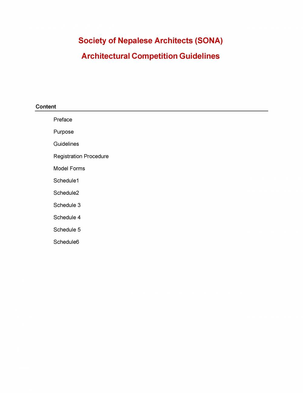 SONA  Architectural Competition Guidelines